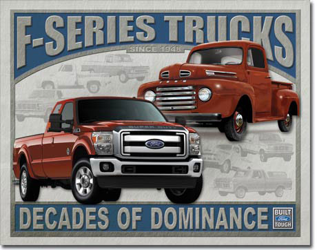 Funny Ford Signs Ford f series trucks tin sign