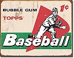 TOPPS 1958 Baseball Cards Tin Sign