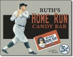 Babe Ruth Candy Bar Tin Sign