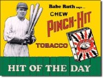 Babe Ruth Pinch Hit Tobacco Tin Sign