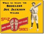 Shoeless Joe Jackson Tin Sign