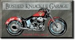 Busted Knuckle Motorcycle Garage Tin Sign