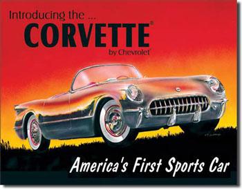 1953 Corvette By Chevrolet Tin Sign