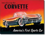 1953 Corvette By Chevrolet Tin Sign