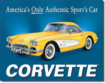 1958 Corvette Tin Sign