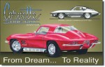 Corvette Stingray Tin Sign