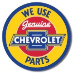Chevrolet Geniune Parts Round Tin Sign