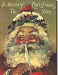 Santa's Red Quill Tin Sign
