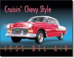 1955 Chevrolet Bel Air Tin Sign