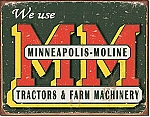 Minneapolis Moline Machine Tin Sign