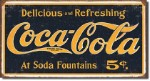 Coca Cola 1910 Logo Tin Sign