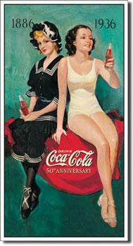 Coca Cola 50th Anniversary Tin Sign