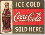 Coca Cola Sold Here Tin Sign