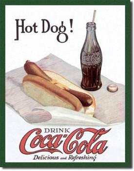 Coca Cola Hot Dog Tin Sign