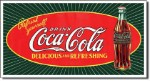 Coca Cola Star Burst Bottle Tin Sign