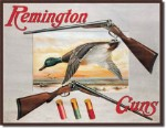 Remington Shotguns Tin Sign