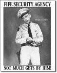 Barney Fife Security Agency Tin Sign