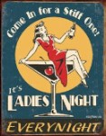 Ladies Night Tin Sign
