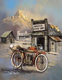 Blaylock Apache High Speed Tin Sign