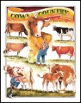 Bates Cows Tin Sign