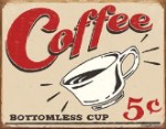 Schonberg Coffee 5 Cents Tin Sign