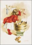 Ivory Soap Girl Washing Tin Sign