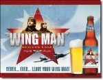 Wing Man Beer Tin Sign