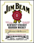Jim Beam White Label Tin Sign