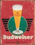 Budweiser Retro Glass & Logo Tin Sign