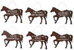 Ready To Ride Metal Signs Set of 6