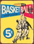 Topps 1957 Basketball Tin Sign