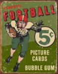 Topps 1956 Football Tin Sign