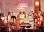 Dogs Playing Poker Tin Sign 2