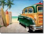 Beach Woody Tin Sign