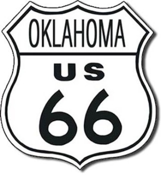 Route 66 Oklahoma Tin Sign