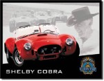 Shelby Cobra 40th Tin Sign