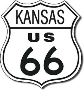 Route 66 Kansas Tin Sign