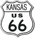 Route 66 Kansas Tin Sign