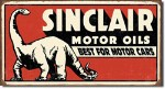 Sinclair Dinosaur Tin Sign