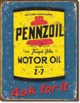 Pennzoil Can Tin Sign