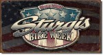 Sturgis Weathered Shield Tin Sign
