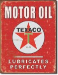 Texaco Lubricates Perfectly Tin Sign