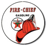 Texaco Fire Chief Tin Sign