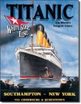 Titanic White Star Tin Sign