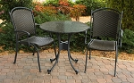 Highlites Synthetic All Weather Wicker 3 Piece Bistro Set with arm chairs