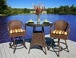 Lexington Synthetic All Weather Wicker 3 Piece Bar Chair Set