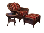 Lexington Synthetic All Weather Wicker 3 Piece Club Chair Set