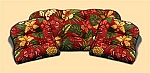 3 Piece Indoor/Outdoor Replacement Cushion Set Mauna Loa Hibiscus