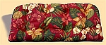Indoor/Outdoor Mauna Loa Hibiscus Bench Cushion
