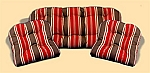 3 Piece Outdoor Replacement Cushion Set Cay Stripe Poppy